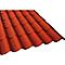 Plaque imitation tuile PVC Nordika rouge (vendue à la plaque)