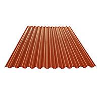 Plaque PVC Tecno Imac Ecolina rouge - 200 x 110,4 cm (vendue à la plaque)