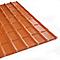 Plaque PVC Francesa 184 x 118 cm rouge (vendue à la plaque)