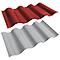 Plaque ondulée PVC rouge-gris 200 x 100 cm, ép. 2 mm