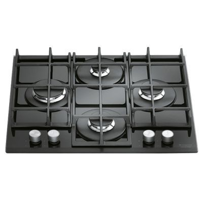 plaque de cuisson gaz 4 br leurs hotpoint tqg641habk castorama. Black Bedroom Furniture Sets. Home Design Ideas