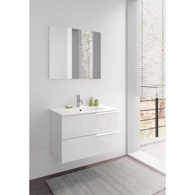 ensemble de salle de bains suspendre blanc bianco 80 cm castorama. Black Bedroom Furniture Sets. Home Design Ideas