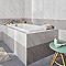 Carrelage mur blanc effet pierre 25 x 40 cm Secchia (vendu au carton)