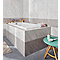 Carrelage mur gris effet pierre 25 x 40 cm Secchia (vendu au carton)