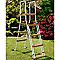 Piscine acier décor bois GRE 6,1 x 3,75 m