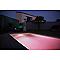 Hublot extérieur piscine/bassin LUMIHOME PVC gris LED 20W RGB + télécommande
