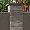 Chapeau de pilier pointe diamant gris 50 x 50 cm