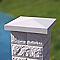Chapeau de pilier pointe diamant blanc 50 x 50 cm