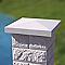 Elément de pilier bosselé blanc 30 x 30 cm