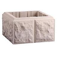 Elément de pilier bosselé blanc 40 x 40 cm