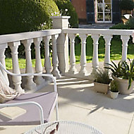 Balustre ronde BLOOMA Barcelone blanche 13 x 13 x h.80 cm