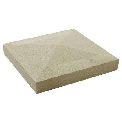 chapeau de pilier pointe diamant blanc 40 x 40 cm castorama. Black Bedroom Furniture Sets. Home Design Ideas