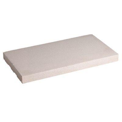Dessus de muret plat blanc 50 x 25 cm castorama - Dessus de muret plat ...