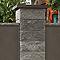 Elément de pilier bosselé gris 40 x 40 cm