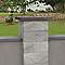 Chapeau de pilier plat marbre gris 50 x 50 cm