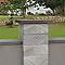 Chapeau de pilier plat marbre gris 40 x 40 cm