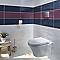 Carrelage mur décor bleu océan 20 x 50 cm Emotion (vendu au carton)