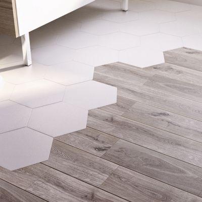 Carrelage Sol Et Mur Blanc X Cm Kanya Vendu Au Carton - Carrelage hexagonal blanc