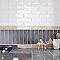 Carrelage mur blanc 7,5 x 30 cm FLOORING DESIGN Nouria (vendu au carton)