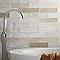 Carrelage mur blanc mat 7,5 x 30 cm Flooring Design Nouria (vendu au carton)