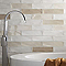 Carrelage mur taupe 7,5 x 30 cm Flooring Design Nouria (vendu au carton)