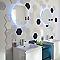Carrelage mur blanc et bleu 17,5 x 20 cm Flooring Design Makara B (vendu au carton)