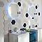 Carrelage mur blanc et bleu 17,5 x 20 cm FLOORING DESIGN Makara C (vendu au carton)