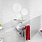 Carrelage mur décor blanc 25 x 75 cm Danka (vendu au carton)