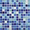 Mosaïque bleue blanche 30 x 30 cm
