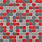 Mosaïque gris rouge 30 x 30 cm Barcelona