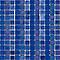 Mosaïque bleu nuit 33 x 33 cm Linéal Océano