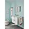 Ensemble de salle de bains à suspendre blanc Noubé 60 cm