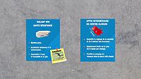 Panneau polystyrène extrudé emboîtable multi-usage Soprema 125 x 60 cm ép. 40 mm R. 1,20 m²K/W(vendu au panneau)