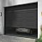 Porte de garage sectionnelle motorisée Turia anthracite (en kit)