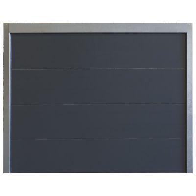 porte de garage sectionnelle motoris e turia anthracite en kit castorama. Black Bedroom Furniture Sets. Home Design Ideas