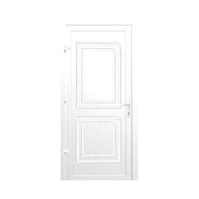 Porte d'entrée pvc Geom Section blanc 90 x h.215 cm poussant gauche