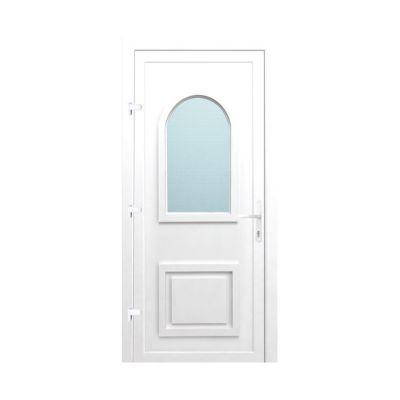Porte d'entrée pvc Geom Hendeca blanc 80 x h.215 cm poussant droit