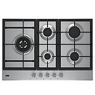 Plaque de cuisson au gaz Beko HQAW 75225 SX, 5 foyers