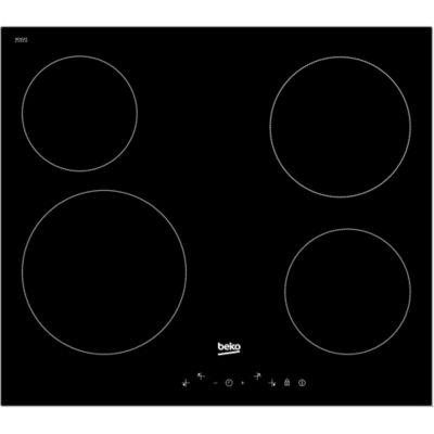 code promo 4734c 85d77 Plaque de cuisson vitrocéramique 4 zones verre Beko HQC 64401 | Castorama
