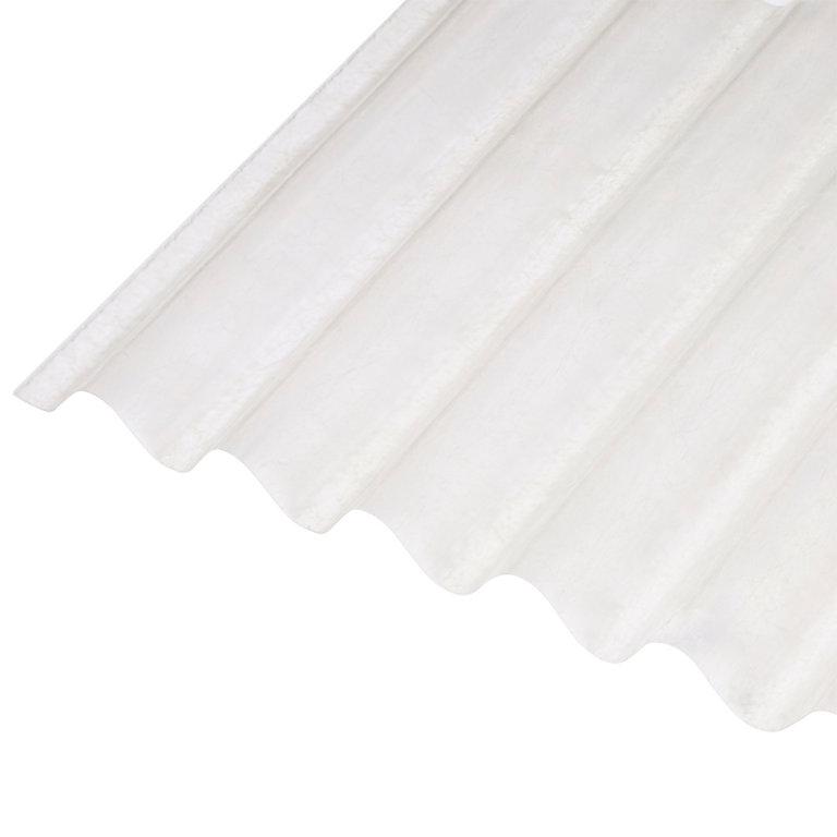 Plaque Ondulee Polyester Transparent 250 X 90 Cm Vendue A La Plaque Castorama