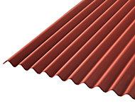 Plaque ondulée bitumée rouge 200 x 93 cm (vendue à la plaque)