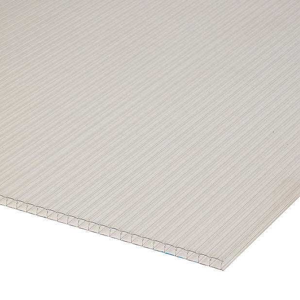 Plaque Alveolaire Polycarbonate Transparent 300 X 100 Cm Ep 16 Mm Vendue A La Plaque Castorama