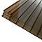 Plaque alvéolaire polycarbonate bronze 300 x 100 cm, ép.16 mm