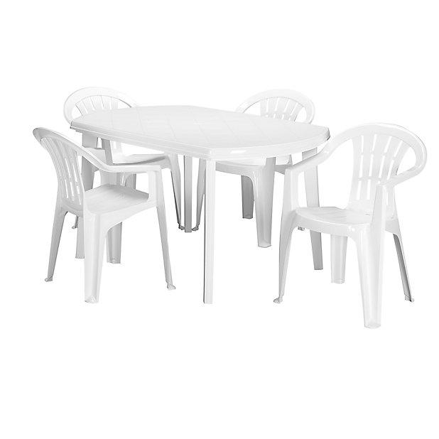 Table Blanche En Resine Basic L 137 X 90 Castorama