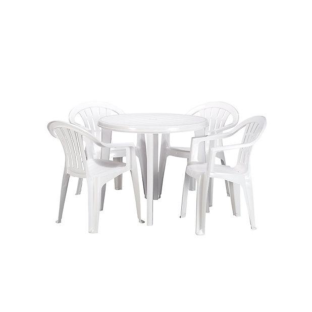 Table Basic Blanche D 90 Cm Castorama