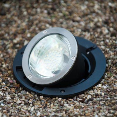 Spot Extérieur à Enterrer Akanua Vario Mini Orientable Noir Inox Castorama