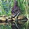 Fontaine de jardin bouddha Semarang