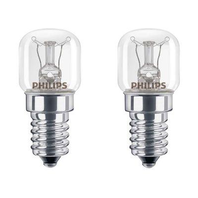 Lot 2 ampoules incandescente spéciale Four E14 15W=15W blanc chaud