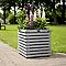 Bac carré épicéa HILLHOUT Elan gris 50 x 50 x h.50 cm