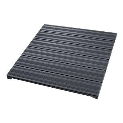 Dalle de terrasse composite anthracite 90 x 90cm for Plancher pour terrasse exterieure